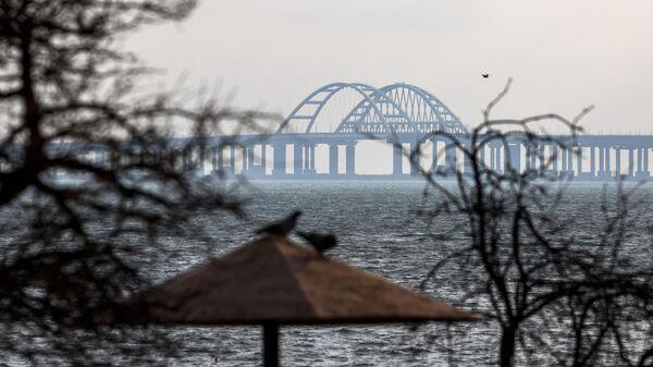 Вид на Крымский мост со стороны Керчи