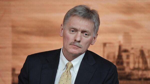 Заместитель руководителя администрации президента РФ - пресс-секретарь президента РФ Дмитрий Песков на большой ежегодной пресс-конференции