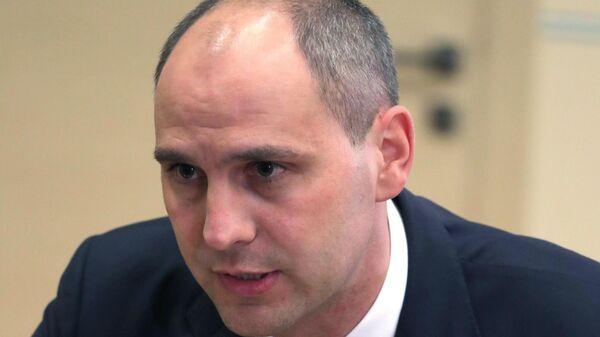 Денис Паслер во время встречи с Владимиром Путиным