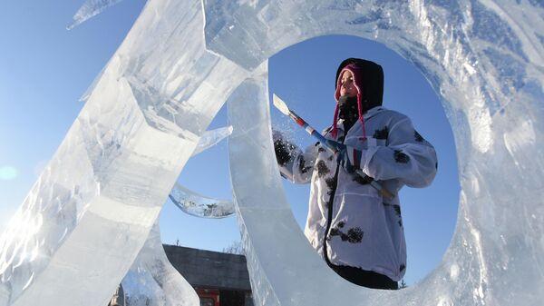 Ледяная скульптура в Чанчуне, Китай