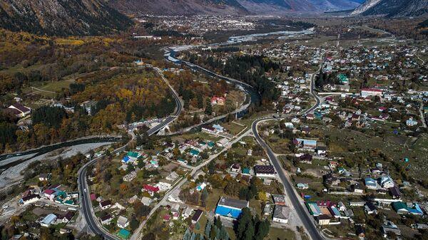 Поселок Теберда в Карачаево-Черкесской Республике