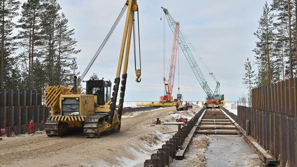 Строительство трубопровода Северный поток - 2 в России