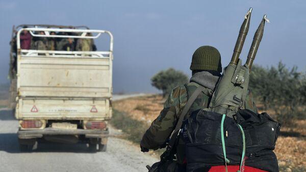 Солдаты сирийской армии в провинции Идлиб
