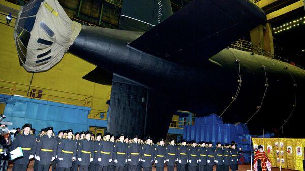 Церемония вывода АПЛ Новосибирск из эллинга АО ПО Севмаш