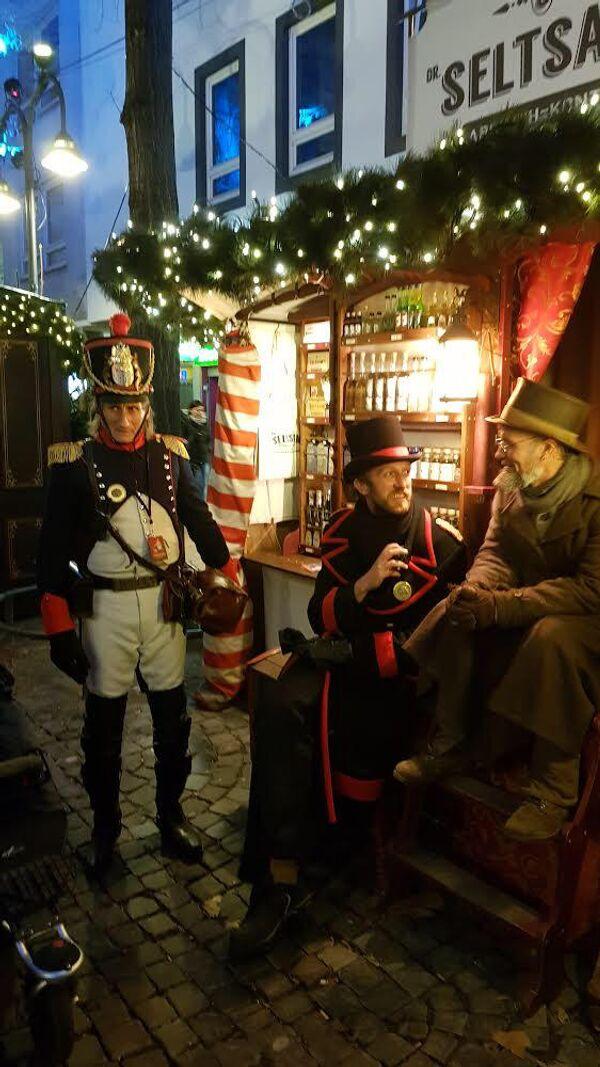 Костюмированная Рождественская вечеринка в Кельне.