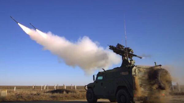 Испытания зенитно-ракетного комплекса Гибка-С