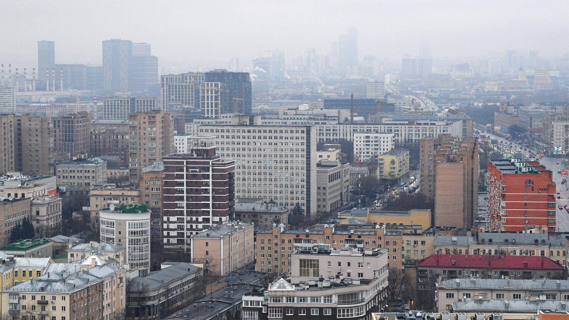 Вид на жилые дома с высотки на Кудринской площади в Москве - РИА Новости, 1920, 01.01.2020