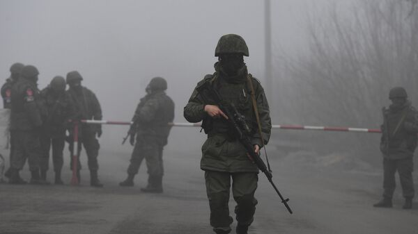 КПП на окраине города Горловка в Донецкой области
