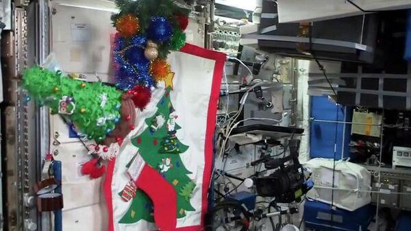 Новогодняя елка на МКС