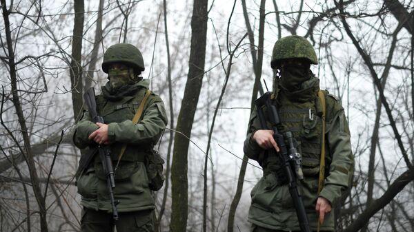 Военнослужащие в Донбассе