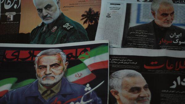 Вышедшие в субботу 4 января 2019 иранские газеты с Сулеймани на передовице