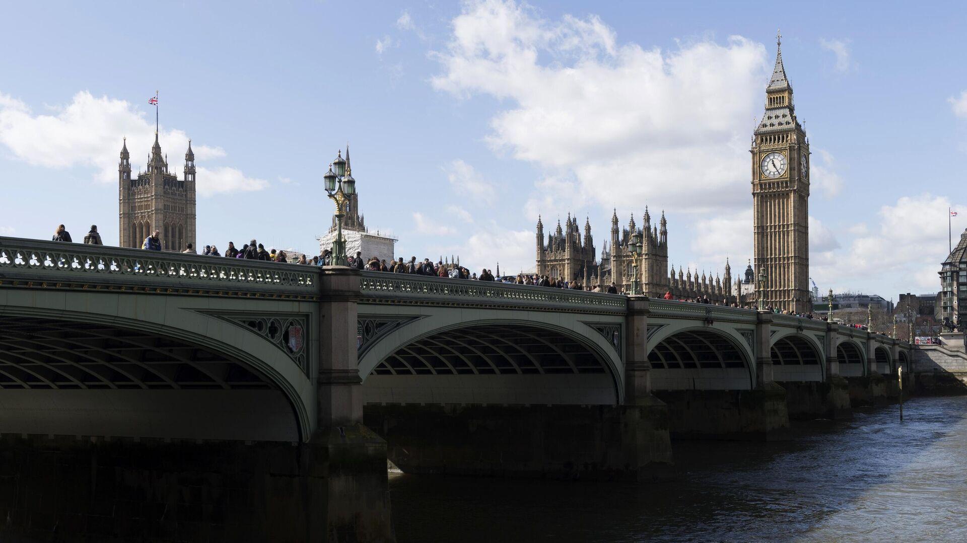Вестминстерский мост через реку Темза в Лондоне - РИА Новости, 1920, 19.12.2020