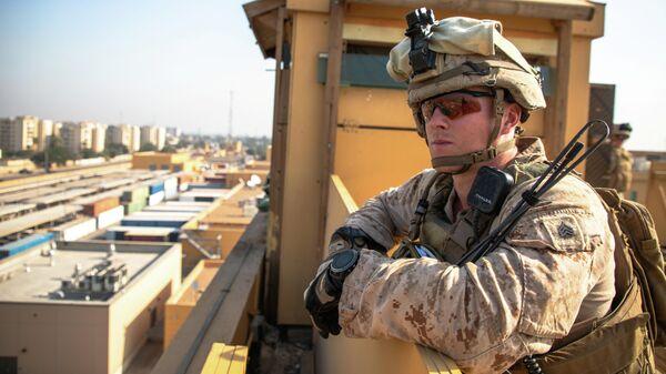 Морской пехотинец США в Багдаде