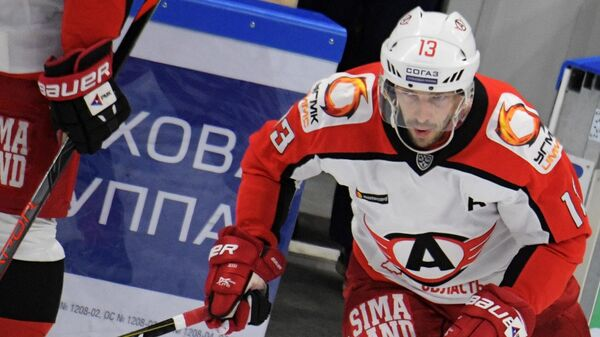 Игрок ХК Автомобилист Павел Дацюк