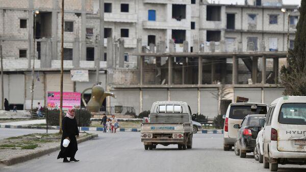 Город Манбидж в сирийской провинции Алеппо, который находится под самоуправлением курдов