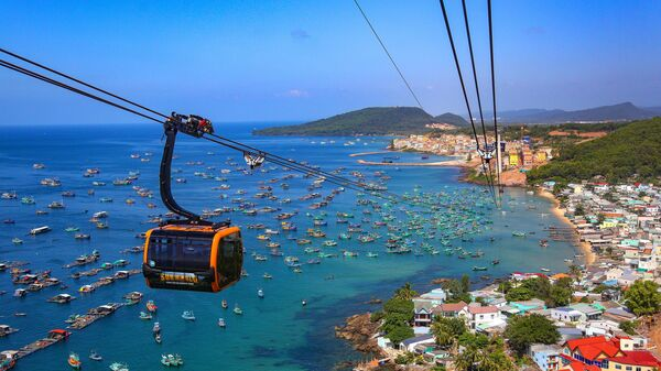 Самая длинная в мире канатная дорога на острове Фокуок во Вьетнаме