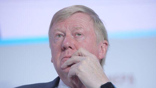 Председатель правления УК Роснано Анатолий Чубайс на XI Гайдаровском форуме