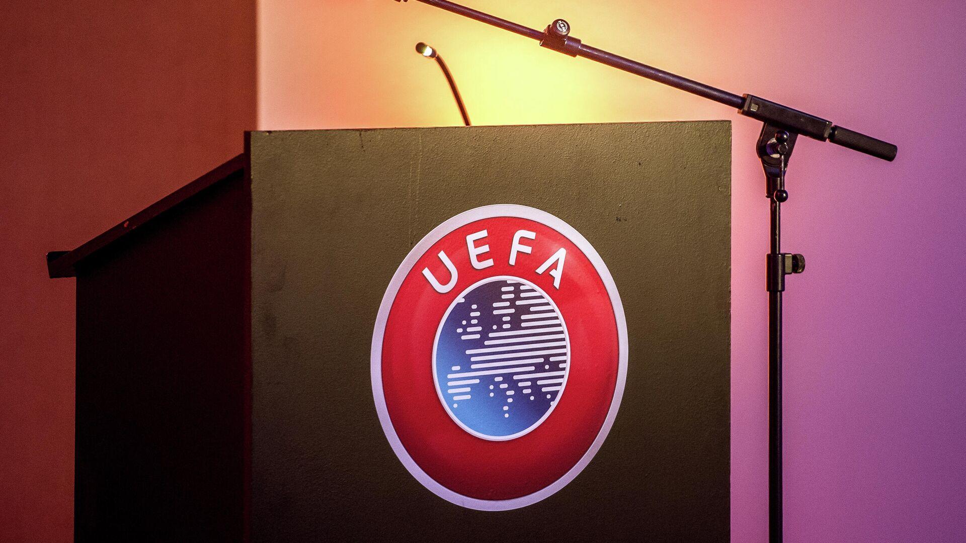 Логотип Союза европейских футбольных ассоциаций (УЕФА) - РИА Новости, 1920, 22.04.2021