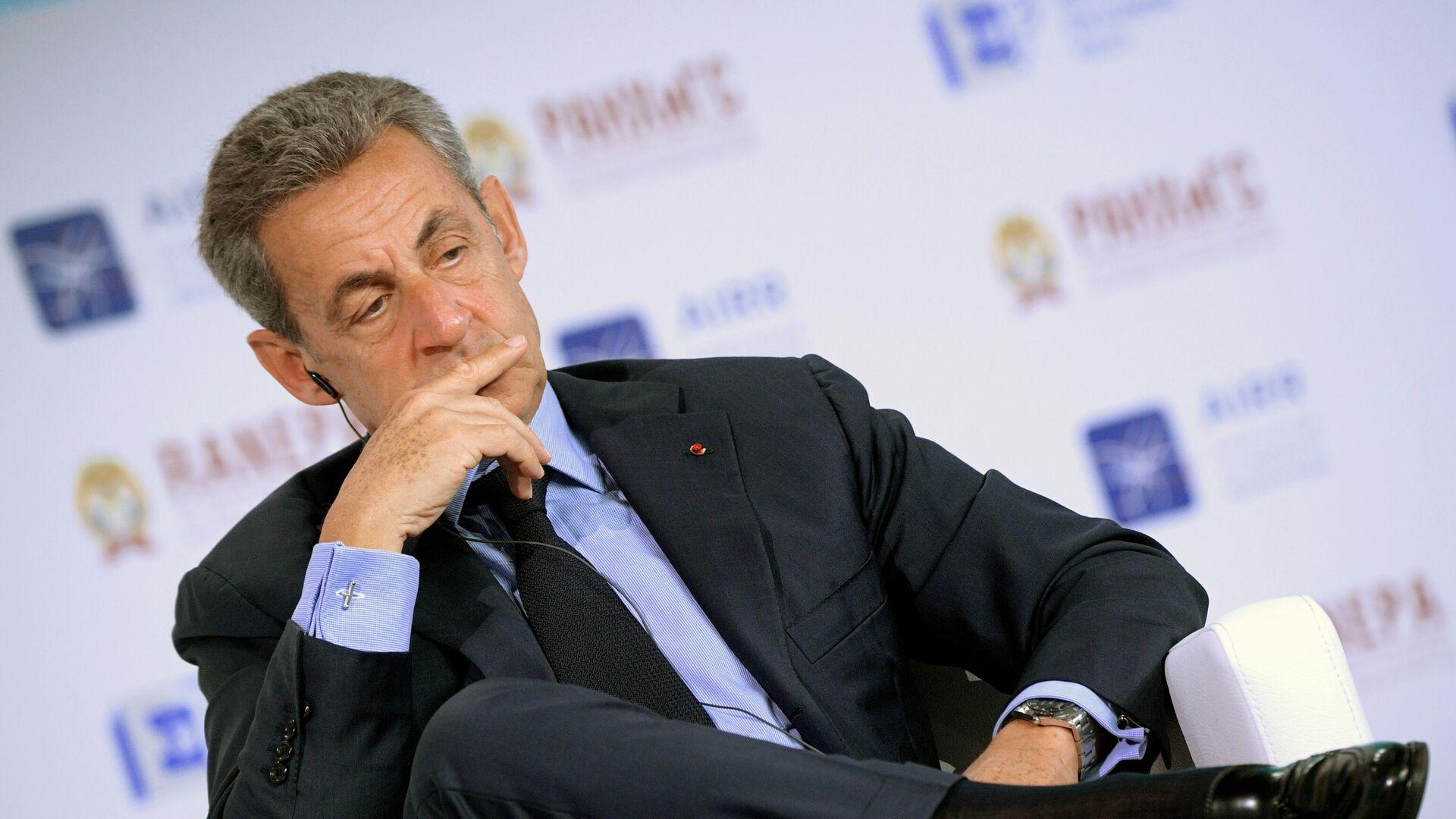 Экс-президент Франции Николя Саркози на XI Гайдаровском форуме в Москве - РИА Новости, 1920, 16.10.2020