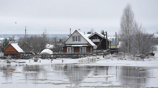 Подтопление в одном из селений Вологодской области