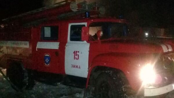 Пожар в Зиминском районе Иркутской области. 15 января 2020
