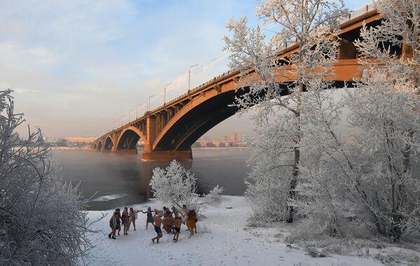 Клуб зимнего плавания в Красноярске
