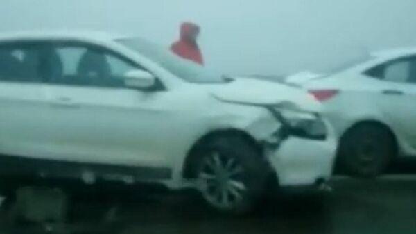 Массовое ДТП в Адыгее попало на видео