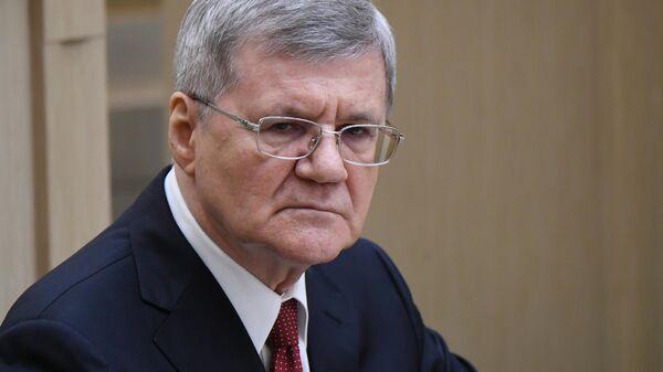 Юрий Чайка на заседании Совета Федерации РФ
