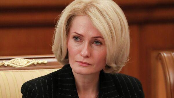 Зааместитель председателя правительства РФ Виктория Абрамченко на заседании правительства РФ