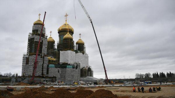 Строительство главного храма Вооруженных Сил в конгрессно-выставочном центре Патриот в Московской области