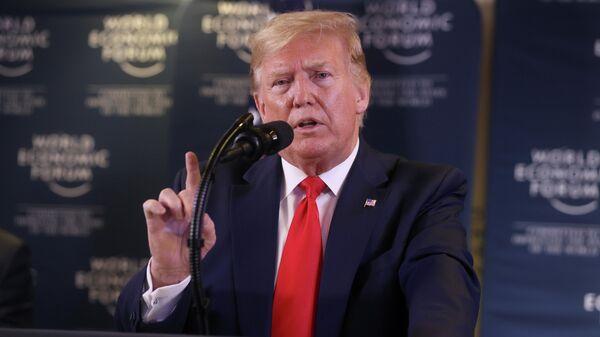 Президент США Дональд Трамп на Всемирном экономическом форуме в Давосе