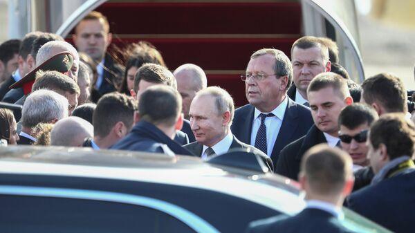 Президент РФ Владимир Путин во время визита в Израиль. 23 января 2020