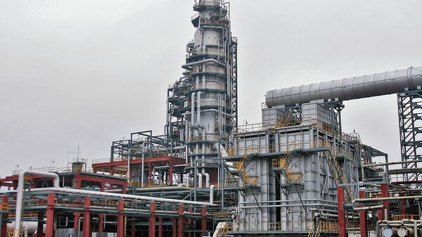 Нефтеперерабатывающий завод ООО Нафтан, расположенный в городе Новополоцке