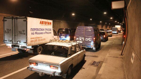 Пробка в Лефортовском тоннеле