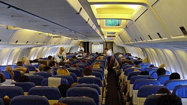 Салон самолета. Архив