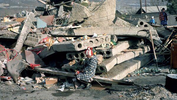 Землетрясение в Спитаке. Архивное фото 1988 года