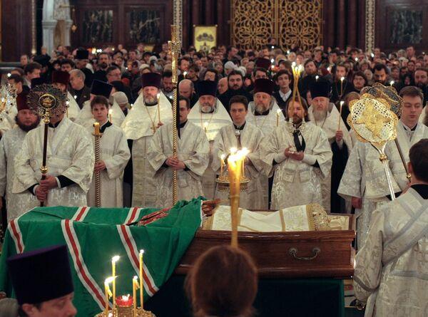 Церемония прощания с патриархом Московским и всея Руси Алексием II в храме Христа Спасителя