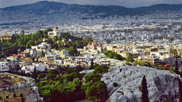 Вид на город Афины