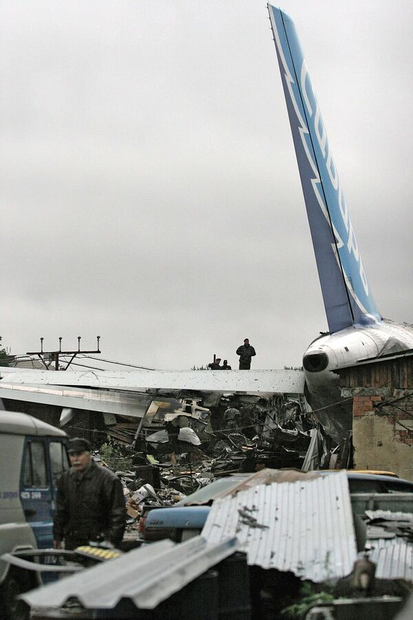 Лайнер А310-300, потерпевший катастрофу в аэропорту Иркутска