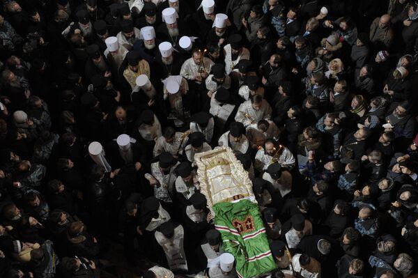Церемония отпевания и похорон патриарха Алексия II