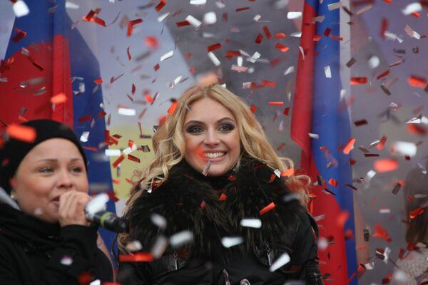 Победительница конкурса Мисс Конституция жительница Ростова-на-Дону Мария Федорова