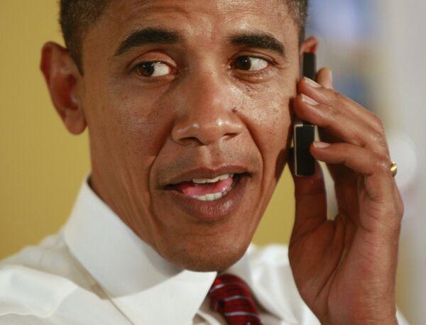 Барак Обама в своем предвыборном штабе в Питсбурге