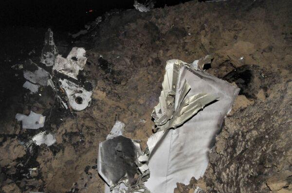 На месте аварии самолета