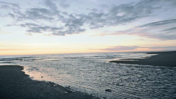 Закат на побережье Охотского моря