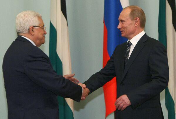 Премьер-министр РФ Владимир Путин встретился с главой Палестинской национальной администрации
