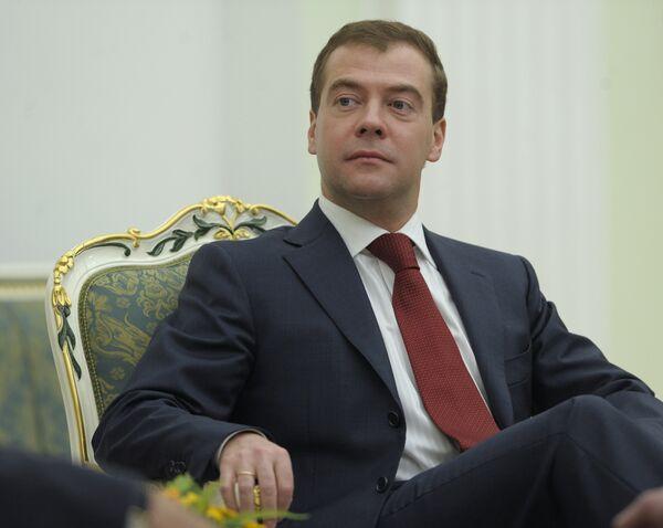 Президент России Дмитрий Медведев встретился с президентом Белоруссии Александром Лукашенко