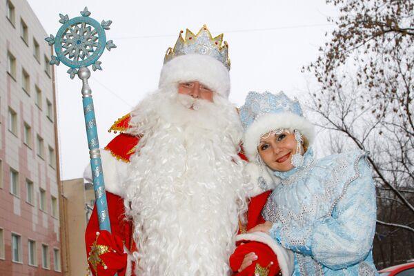 Главный Дед Мороз страны и Снегурочка