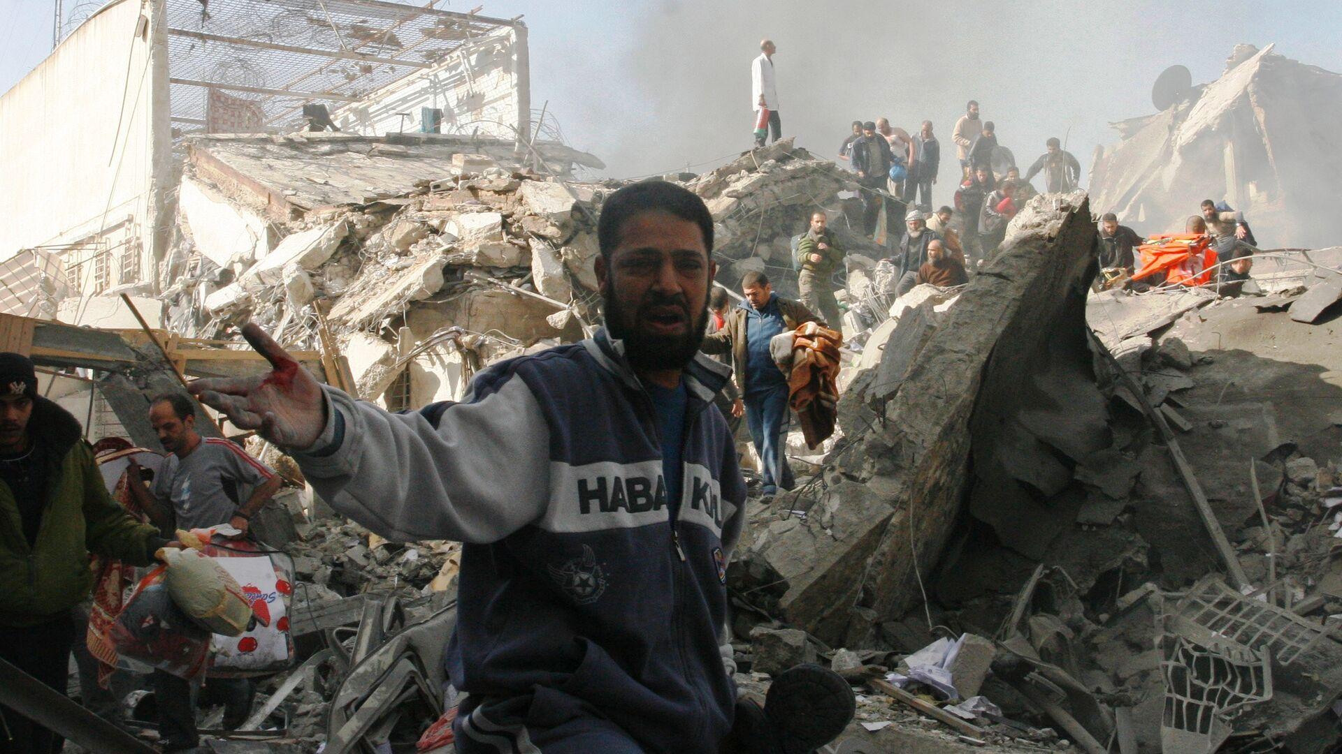Последствия израильских бомбардировок в секторе Газа - РИА Новости, 1920, 16.05.2021