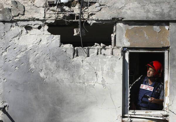 Последствия ударов ХАМАС по израильскому городу Ашкелон