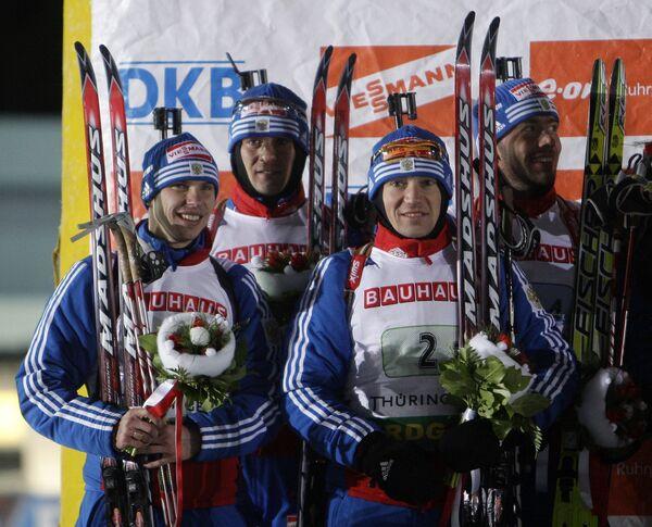 Евгений Устюгов, Дмитрий Ярошенко, Максим Чудов, Николай Круглов (слева направо)